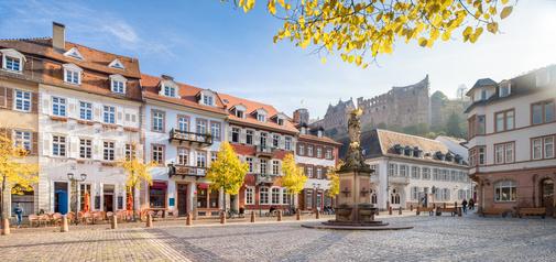 Heidelberg Kornmarkt Panorama im Herbst