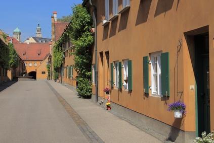 Augsburg, Fuggerei, soz. Wohnsiedlung