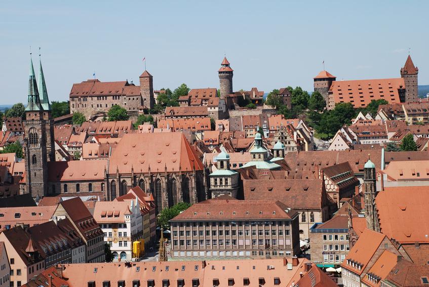 Stadt Nürnberg Altstadt Burg Kaiserburg Sebalduskirche