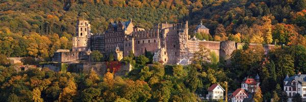 Heidelberger Schloss im Herbst