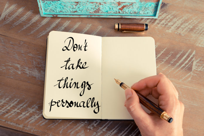 Die Kunst, Dinge nicht mehr persönlich zu nehmen