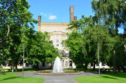 Bielefeld, Ravensberger Park mit Fontaine