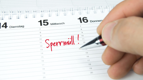 Sperrmüll / Termin im Terminkalender / Terminplaner