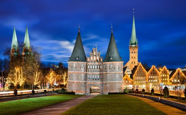 Holstentor in Lübeck, Deutschland
