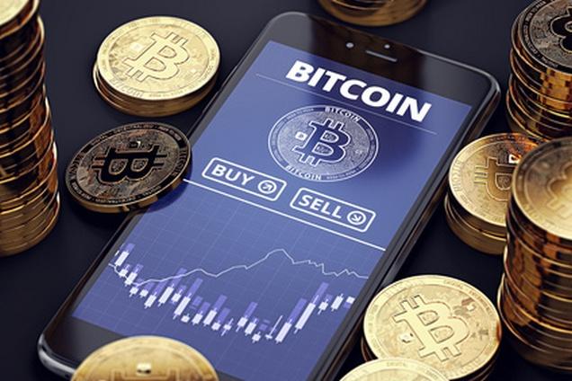 Smartphone mit Bitcoin