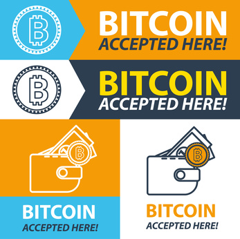 Bitcoin accepted here Aufkleber