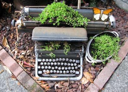 Upcycled Schreibmaschine