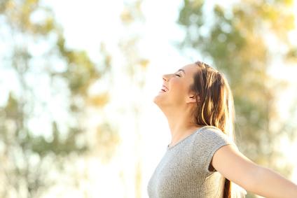 Sonne tanken gegen Müdigkeit
