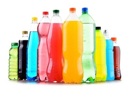 Soft drinks mit viel Zucker