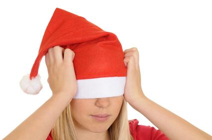 Weihnachtsfrau im Streß