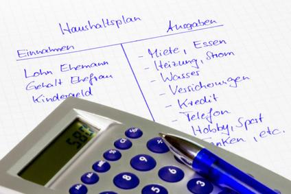 Haushaltsplan und Haushaltsführung