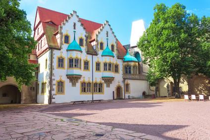 Moritzburg, im Hof