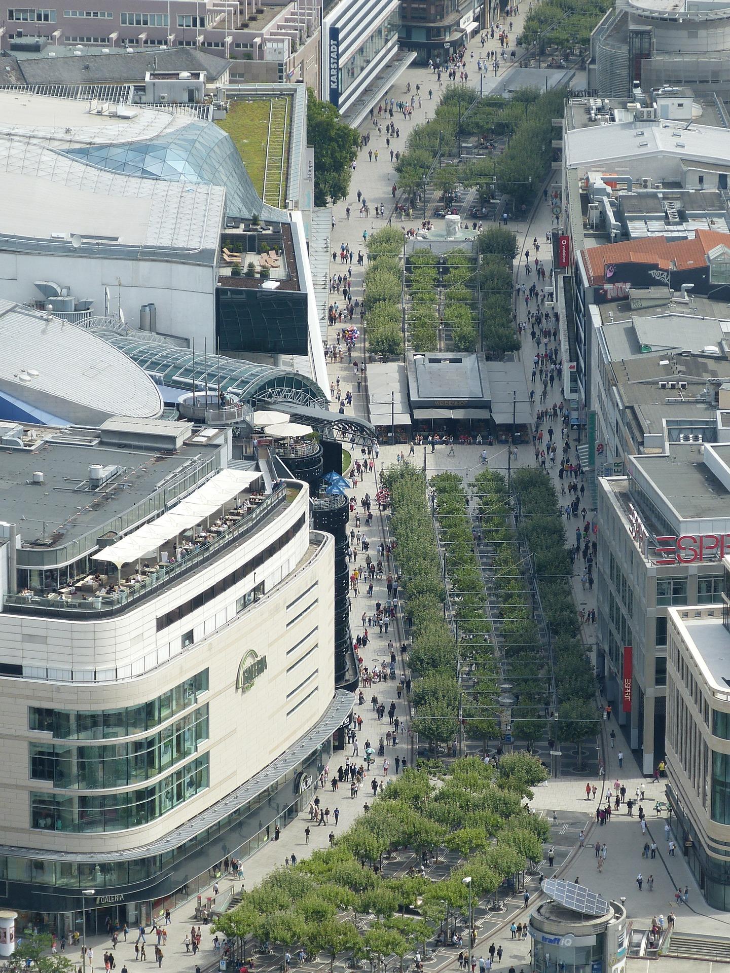 Frankfurt Zeil von oben